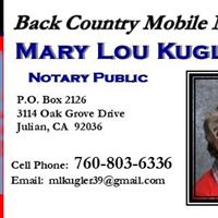 Back Country Mobile Notary logo
