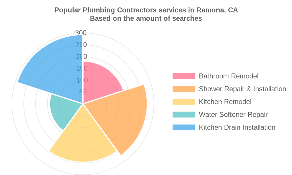 Popular services provided by plumbing contractors in Ramona, CA