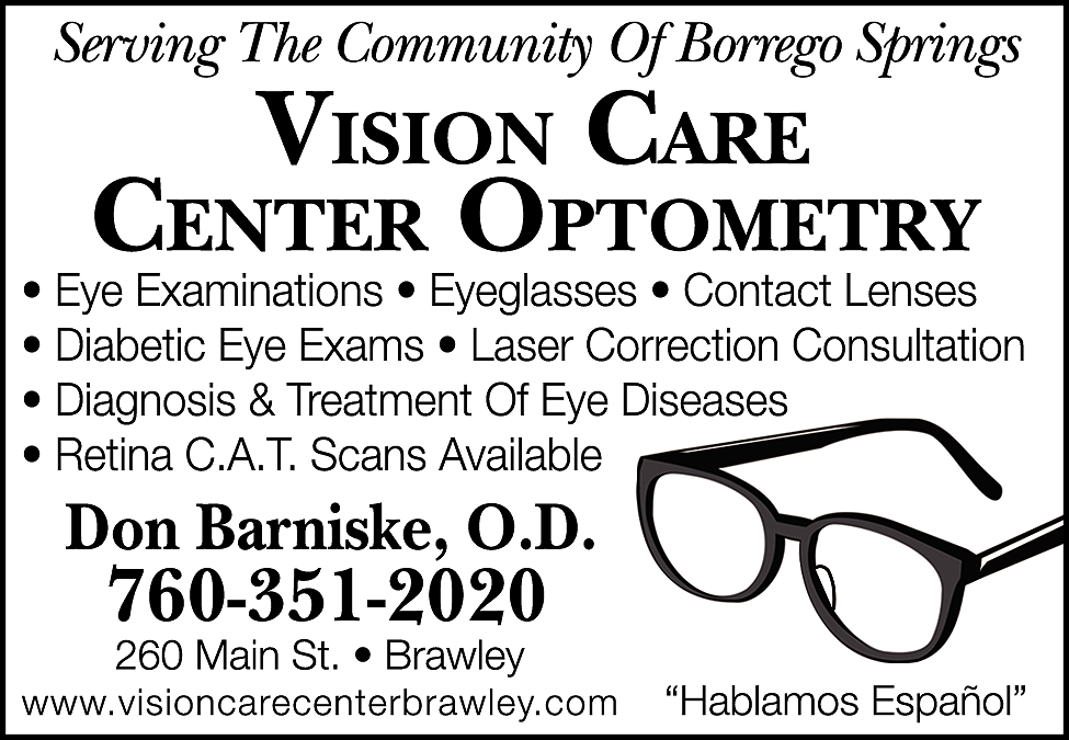 Print Ad of Vision Care Center Optometry