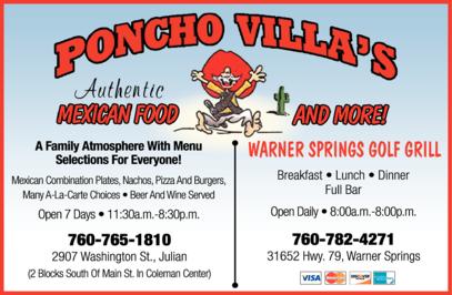 Print Ad of Poncho Villa's