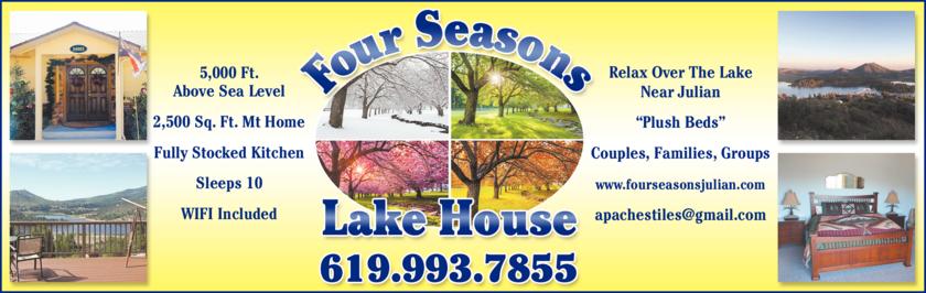 Print Ad of Four Seasons Lake House